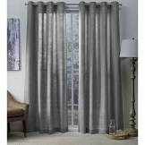 Exclusive Home Curtains Exclusif Maison Rideaux œillets en Haut fenêtre Panneau de Rideau, Polyester, Black Pearl, 96x 54x 0.2cm