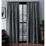 Exclusive Home Curtains Exclusif Maison Rideaux Crosshatch Chenille Tige de Poche fenêtre Panneau de Rideau, Souple, Gris, 52x 96cm