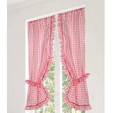 Linder Vitrage Polyester, Rouge, 105x200