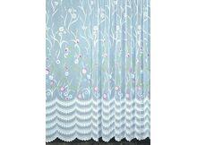 Rideaux et Voilages HomeMaison Fleuri Voilage à Galon Fronceur, Polyester,  Peint, 240x240 cm 921b9310839b