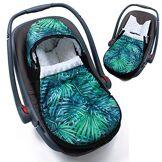 Sevira Kids - Chancelière - turbulette universelle - imperméable - pour siège auto cosy - Tropicosy