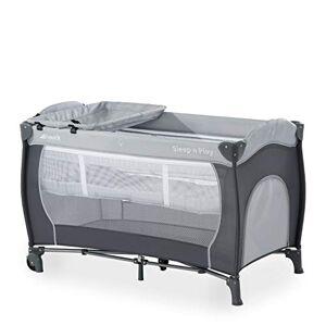 Hauck Lit Parapluie Complet Sleep N Play Center / de la Naissance à 15 kg / 120 x 60 cm / 2 Niveaux / Table à Langer / Roues / Sac de Transport / Sortie Latérale / Pliable Compact / Gris - Publicité