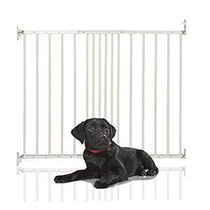 Safetots Barrire extensible en métal pour animal domestique Blanc 62,5  106,8 cm - Publicité