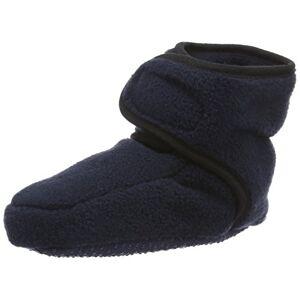 Playshoes Souliers en Laine Polaire, Chaussures pour Ramper Mixte bébé, Bleu (Marine 11), 18/19 EU - Publicité