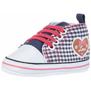 Playshoes Baskets Coeur, Chaussures Premiers Pas Garon Unisex Kinder, Bleu (Marine 11), 19 EU - Publicité