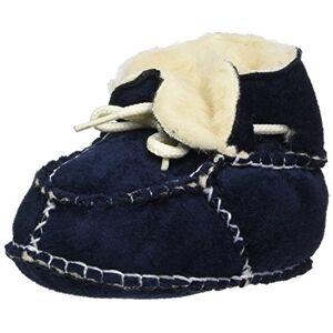 Playshoes Pantoufles en Laine pour Nouveau-né, Chaussures pour Ramper Garon Unisex Kinder, Bleu (Marine 11), 20/21 EU - Publicité