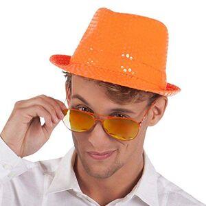 Boland 61774 Popstar Spangles Chapeau pour Adulte Orange Fluo Taille Unique - Publicité