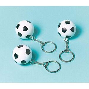 amscan Anniversaire Kermesse Pack de 12 Portes-Clés 8 cm Ballons de Football Anniversaire Garon - Publicité