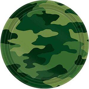 amscan Lot de 8 assiettes Camouflage international 17,7 cm - Publicité