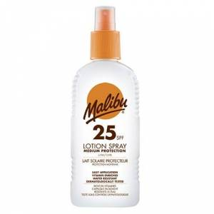 Malibu High Protection Lotion Spray SPF25 With Vitamin E And Pro Vitamin B5 200 ml - Publicité
