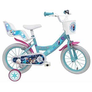 Disney La Reine des Neiges Vélo Mixte Enfant, Blanc/Bleu, 14 - Publicité