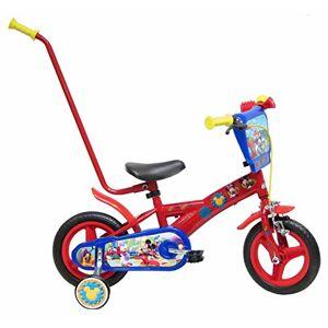 """Disney Cars Chrome Vélo Enfant Rouge 10"""" avec Canne - Publicité"""