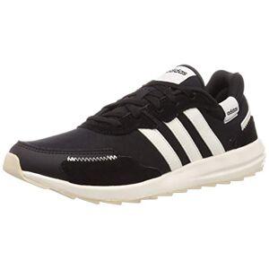 Adidas Retrorun, Chaussures de Course Femme, Noir (Noir Noir/Blanc Nuage/Alumine), 40 2/3 EU - Publicité