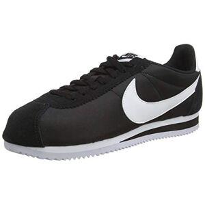 Nike Classic Cortez Nylon Baskets pour Homme Noir (Black / White), 46 EU - Publicité