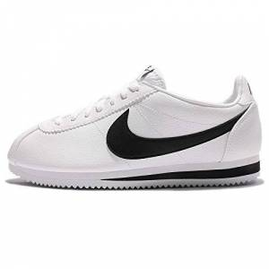 Nike Classic Cortez Leather, Chaussures de Running Entrainement Garon, Blanc (White/black), 38.5 EU - Publicité