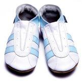 Inch Blue - 1583 S - Chaussures Bébé Souples - Sport - Blanc/Bleu ciel - T 17-18 cm