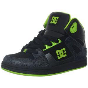 DCShoe Shoes Rebound Se B, Chaussures montantes mixte enfant Noir (Blk/Grn Fl), 34 EU (2 UK) (3 US) - Publicité
