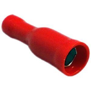 Electraline 62281 Cosse cylindrique femelle Diamtre 4 mm Rouge 10 pices - Publicité