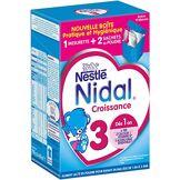 Nestlé Bébé Nestlé Nidal 3 Lait de Croissance en Poudre de 1 à 3 Ans Bag in Box de 2 Sachets de 350g - Lot de 3