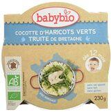 Babybio Assiette Cocotte de Haricots Verts du Val de Loire/Truite 12+ Mois 230 g
