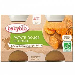 BabyBio Petits Pots Patate Douce 2x130 g 4+ Mois BIO Lot de 3 - Publicité