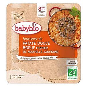 BabyBio Poche Hachis Parmentier avec Buf Fermier de Nouvelle-Aquitaine 190 g 12+ Mois BIO Lot de 6 - Publicité