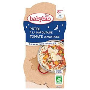 BabyBio Bonne Nuit Bols Ptes  la Napolitaine Tomate d'aquitaine 2x200 g 8+ Mois BIO Lot de 3 - Publicité