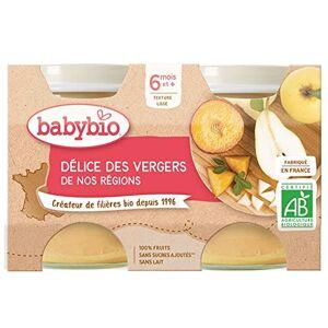 BabyBio Petits Pots Délice de Fruits 6+ Mois 260 g Lot de 3 - Publicité