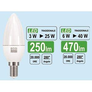 Bisonte Group S.R.L. lampad.LED Candel. 6W E14FR - Publicité