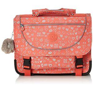 Kipling PREPPY Sac  dos enfants, 41 cm, 21 liters, Multicolore (Hearty Pink Met) - Publicité
