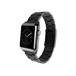 MONOWEAR mwmlbk20mtdgBracelet en Métal avec fermeture en acier inoxydable mat pour le Apple Watch 38mm, Couleur Noir - Publicité