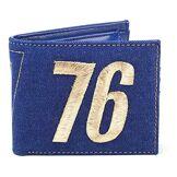 Fallout FALLOUT 76 Embroidered Vault Vintage Denim Bi-Fold Wallet, Male, One Size, Blue (MW060533FAL) Porte-Monnaie, 16 cm, Bleu (Blue)
