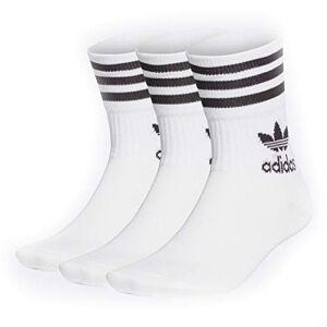 Adidas Mid Cut CRW Sck Bas Homme, Blanc Noir, FR : S (Taille Fabricant : S) - Publicité