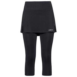 HEAD Club 3/4 Tights Skort W Skirts Femme Noir FR : L (Taille Fabricant : L) - Publicité