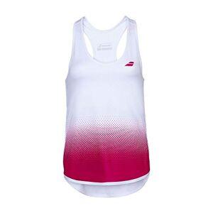 Babolat Compete Tank Top Débardeur pour Femme XS Multicolore (White/Vivacious Red) - Publicité