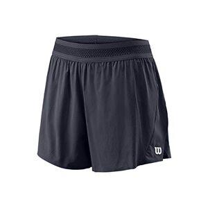 Wilson Femme, Short de Tennis, W UL KAOS TWIN 3.5 SHORT, Nylon/Spandex, Noir (India Ink), Taille L, - Publicité
