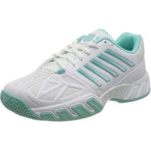 K-Swiss Performance Bigshot Light 3, Chaussures de Tennis Femme, Blanc (White Aruba Blue 121), 37.5 EU - Publicité