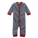 Living Crafts 74/80 Pyjama sans pieds Bleu marine/blanc