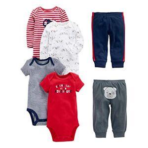 Simple Joys by Carter's Ensemble Bébé (garçon) 0 à 24 mois multicolore Red/Navy Bear Newborn - Publicité