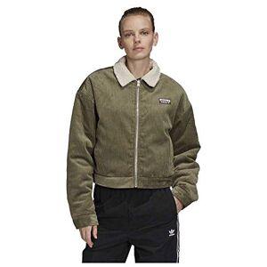 Adidas Corduroy Jacket Veste de Sport Femme, Legacy Green/Clear Brown, FR : M (Taille Fabricant : 46) - Publicité
