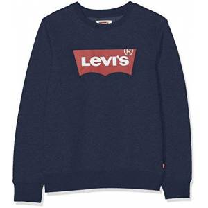 Levis Kids Lvb Batwing Crewneck Pulls Garçon Bleu (Dress Blues) 4 ans - Publicité