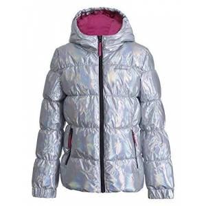 Icepeak Kamiah JR Jacket Children Fille, Multicolour, FR : S (Taille Fabricant : 128) - Publicité