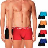 Umbro Set De 12 Multicolor-100% Algodón-Color Negro(x8)/Rojo(1)/Azul(1)/Celeste(1)/Naranja(1) Boxer, Multicolore (Multicolor), Medium Homme
