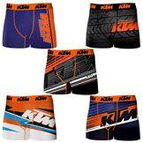 KTM Set 10 Boxer Microfibra (92% Poliéster-8% Elastano) -Multicolor, Shorty Homme Multicolore (Multicolor Multicolor) Medium