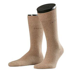 Esprit Basic Uni Double Pack Chaussettes, Marron (Nutmeg Mel 5410), 40-44 (taille du fabricant:43-46) (lot de 2) Homme