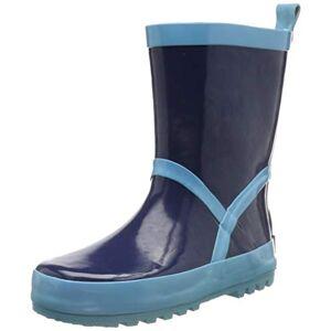 Playshoes Pluie Classic, Bottes en Caoutchouc Naturel Mixte Enfant, Bleu (Marine/Hellblau 639), 32/33 EU - Publicité