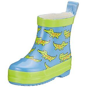 Playshoes Pluie Crocodile, Bottes en Caoutchouc Naturel Garon Unisex Kinder, Bleu (Blau 7), 19 EU - Publicité