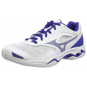 Mizuno Wave Phantom 2, Chaussure de handball Mixte, Blanc/ Reflexbluec/ Dpink, 44.5 EU - Publicité