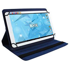 3GO Etui Universel csgt24pour tablettes 7'/17.78cmSupport RotatifFermeture ElasticoBleu - Publicité