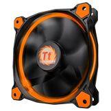Thermaltake - Riing 12 LED - Ventilateur PC (12 cm - LED Orange) Noir